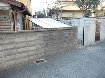 施工前のブロック塀の様子です
